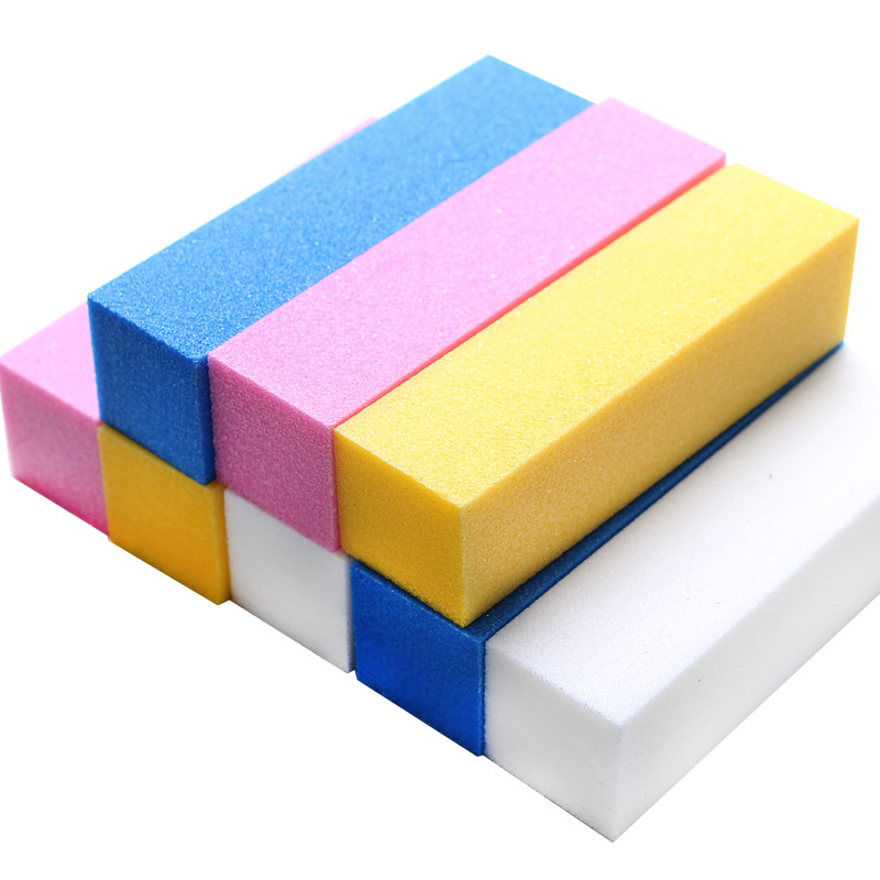 Nail Buffer Block 4 Way Nail File Buffing Sanding Buffer for Home Colorful Manicure.