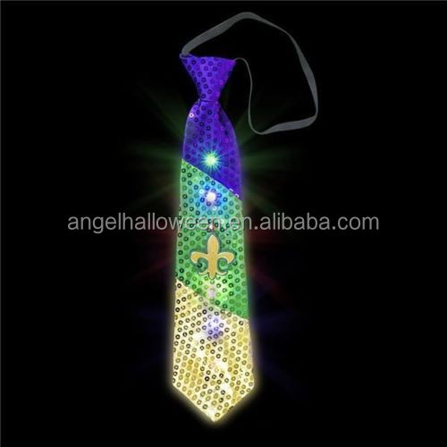 Novelty Flashing Neck Tie Party Fancy Dress Light Up Ties LED Glowing Bow Tie