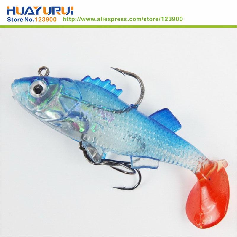 Free Shipping 2 pcs Fishing toys Lure 7 6cm Artificial blue Soft bait Carp Crank bait