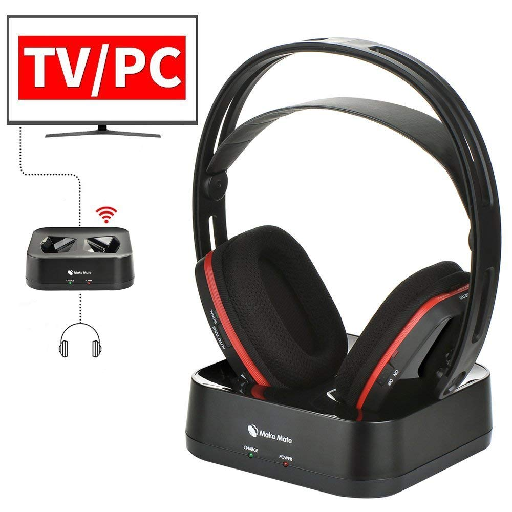 7abcc55e9dd Get Quotations · Wireless Headphones for TV Watching, Wireless RF Headphones  with Transmitter RCH-900 Over-