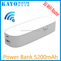 5200 mah wifi wireless router and power bank