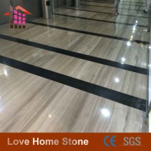 cheap China decorative exterior China supplier dark grey wood marble slab