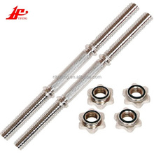 Factory direct sales gym equipment straight chrome dumbbell bar