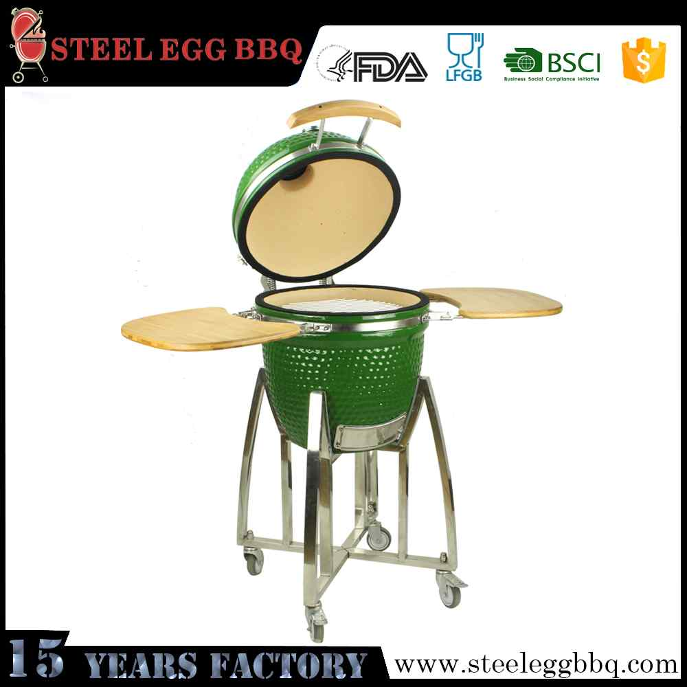 Pro Ceramic Grill Barbeque Kamado Window Iron Grill