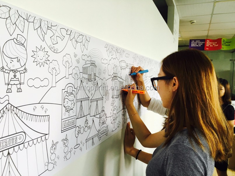 Custom Kids Funny Coloring Roll Poster