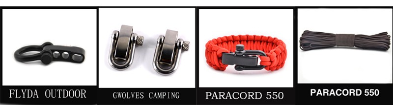 2018 nieuwe Outdoor product fire starter 550 Paracord Survival Armband voor outdoor survival