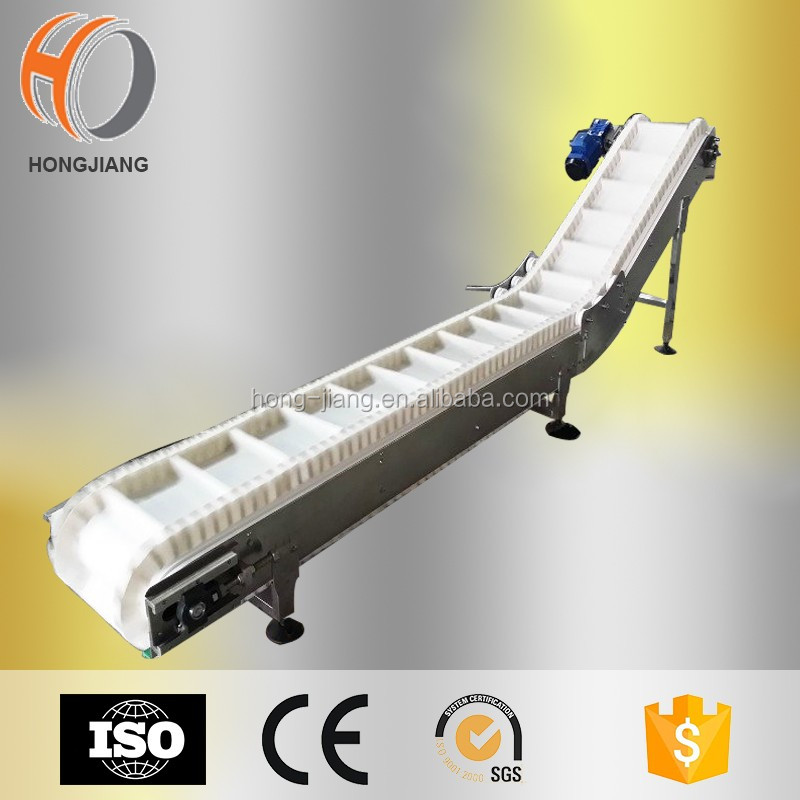 Inclined Belt conveyor, Belt inclining conveyor for food packing line