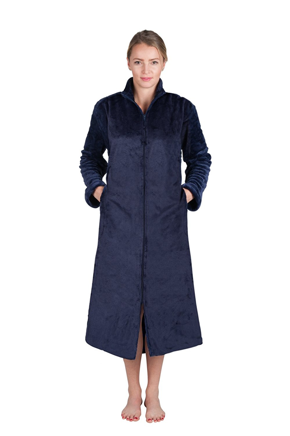 Get Quotations · Love This Robe Super Plush Front Zipper Soft Robe Zipper  Bathrobe Front Zip Up Robe 689a7afe5