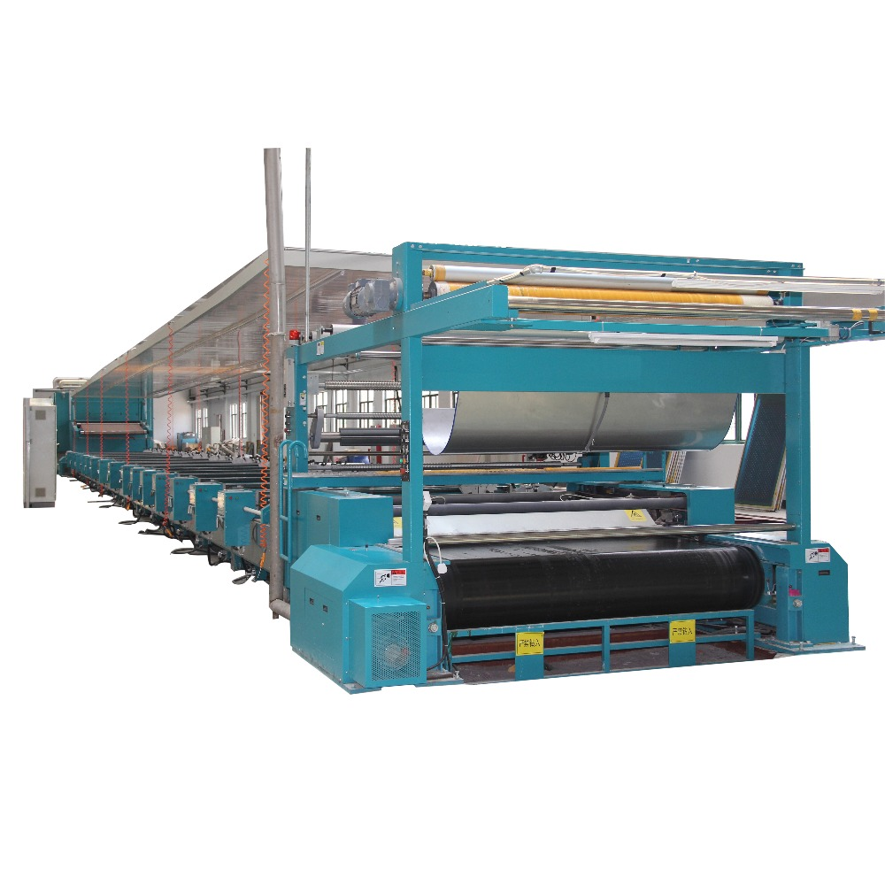 Automatic continuous roll to roll silk screen printing flat bed machine for textile fabric
