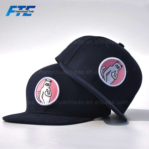 Multi Color Printing Adjustable Hip-Hop Cap Custom Snapback Hats with Logo