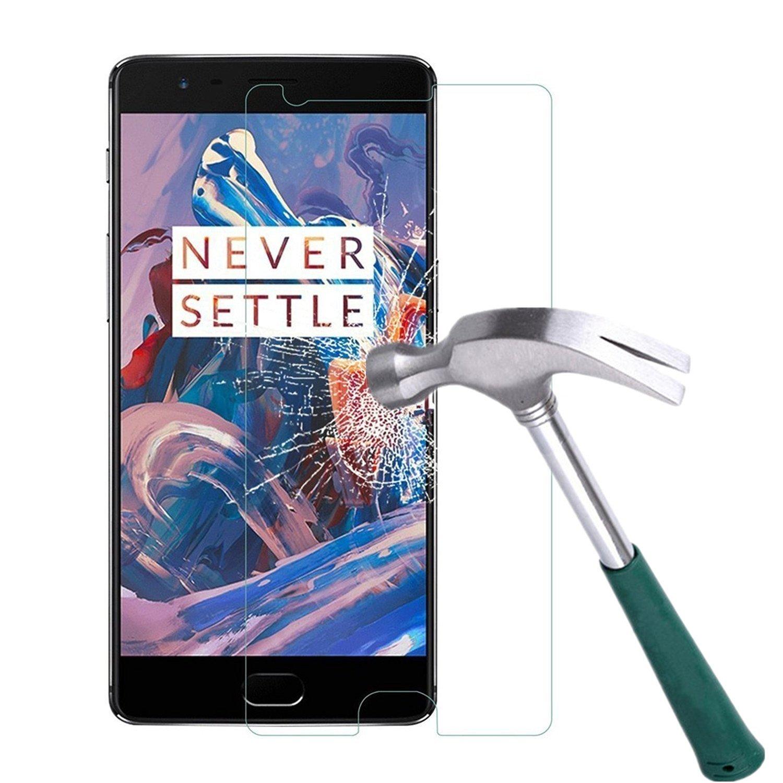 OnePlus 3 Screen Protector, TANTEK [Bubble-Free][HD-Clear][Anti-Scratch][Anti-Glare][Anti-Fingerprint] Tempered Glass Screen Protector for OnePlus 3 [2016 New Version],[Lifetime Warranty]-[1Pack]