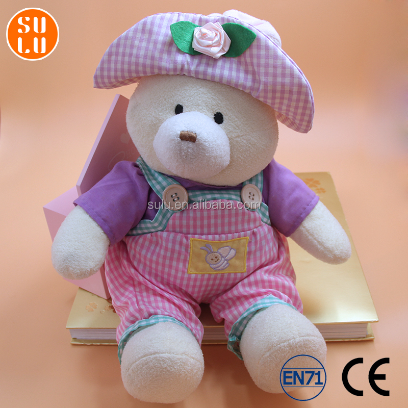 customized cartoon bear shape plush toy/filled baby animal doll