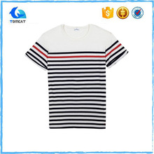 Alibaba popular stripe tshirt with accurate price
