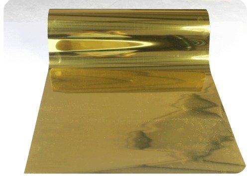 Techtongda 10ft Gold Foil PET Metal light Heat Transfer Vinyl Film For T-shirts Press Cutting Plotter Images Business (Item#0025023.4)