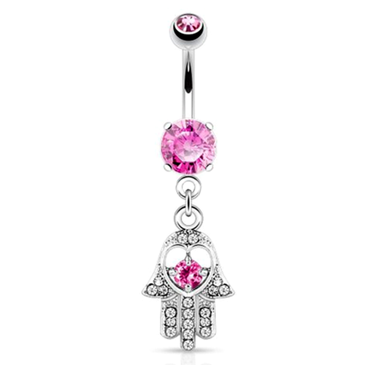 Cz Gems Hand Dangle Belly Button Ring Surgical Steel Navel Ring Buy Dangle Belly Ring Surgical Steel Navel Ring Cz Gems Hand Dangle Belly Button
