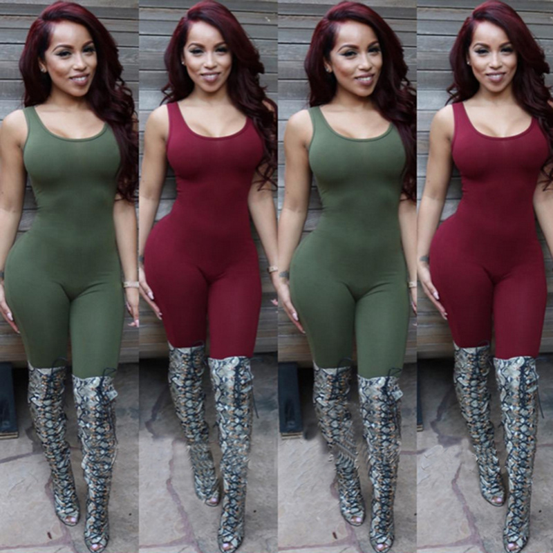 a75bc19bba7b 2016 New Style Autumn Winter Rompers Womens Jumpsuit Sleeveless Sexy  Bandage Bodycon Rompers Long Pants Night Clubwear Vestidos