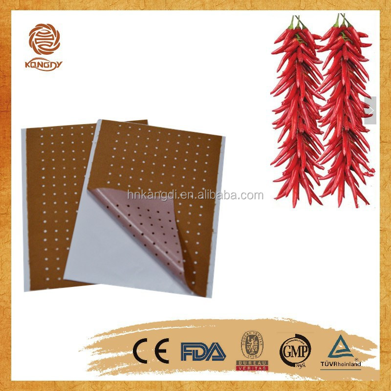 2015 new product china supply oem /odm servcie For temporary relief of minor aches various styles capsicum plaster