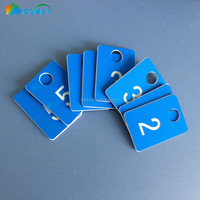 Custom Durable Reusable Plastic Coat Room Check Tags
