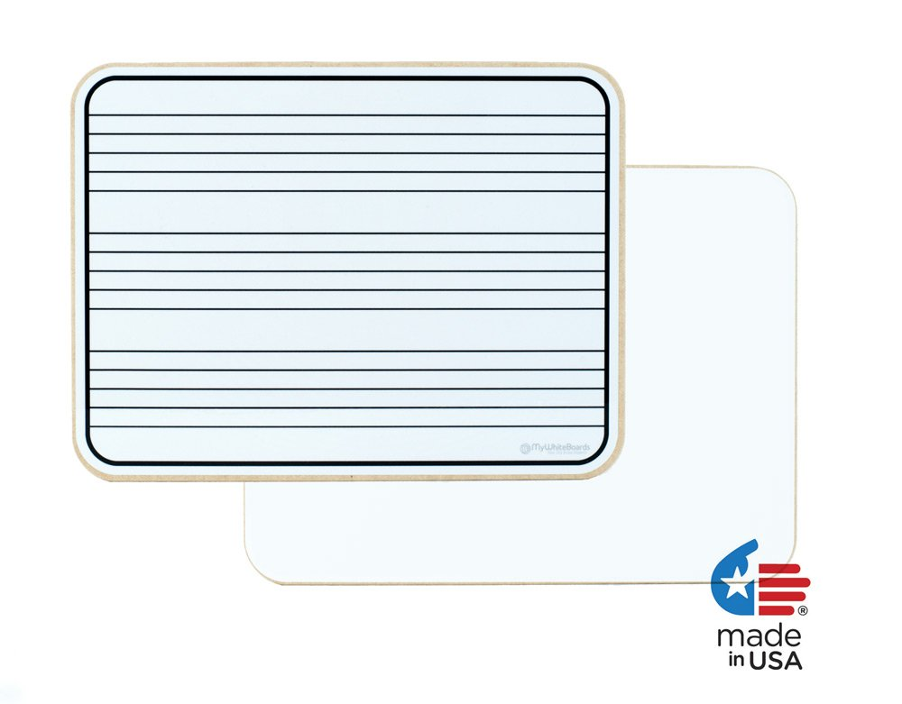 "OptiMA 9"" x 12"" Music Staff Dry Erase Lap Boards Double Sided (15 Pack)."
