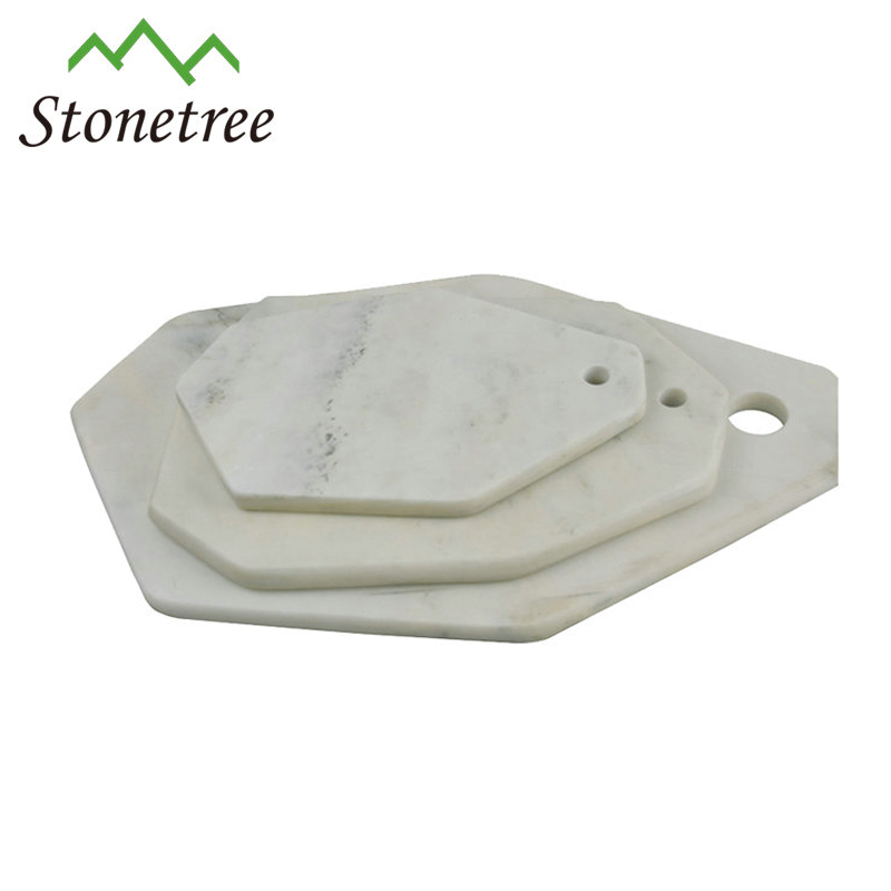 Wholesale New Irregular White Marble Stone Serving Cheese Board