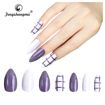 Fengshangmei Best Er Free Sample Colorful Fake Nail Tips Acrylic With Designs False