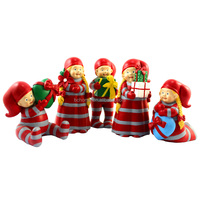 Christmas girls with gifts box figure for festival decoration