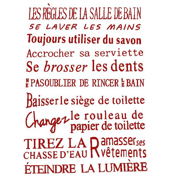 quotes for bathroom of french version waterproof wall stickers home decor vinyl art decals. Black Bedroom Furniture Sets. Home Design Ideas