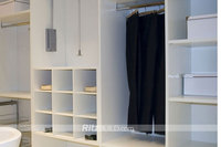 Home furniture bedroom white solid wood wardrobe
