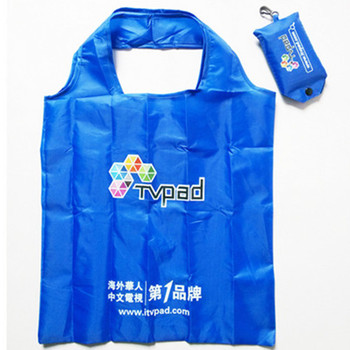 custom promotion reusable polyester folding foldable shopping bag