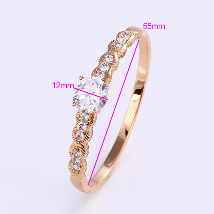 50756 Xuping jewelry wholesale hight quality gold plated precious gemstone love bangles
