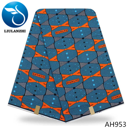 LIULANZHI african prints fabric hollandais wax 6 yards house model real dutch wax hollandais ankara fabric ML9H1746
