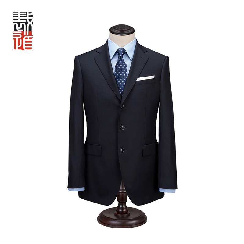 Manufacture Traditional Men's Herringbone Business Suit 2 Piece