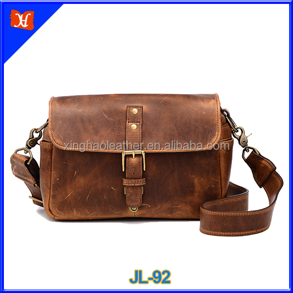 OEM high quality custom fashionable leather national geographic dslr camera bag