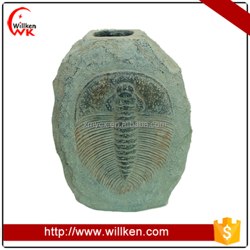 Atificial resin sea animal fossil vase desktop decoration