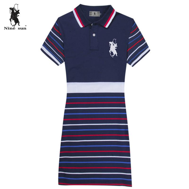 15741ecc Get Quotations · Summer big horse women polo dress Brand Slim casual sports  Ladies dress good quality Cotton classic