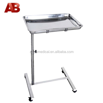Height Adjustable Medical Tray Tables With Wheels