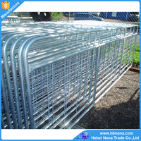 High quality galvanized goat fence gate / metal animal farm fence panels
