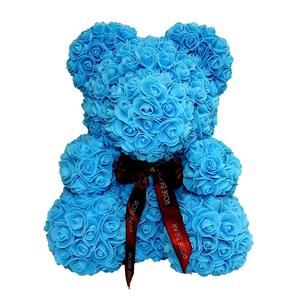 Valentine Gifts Blue Rose Bear Flower Valentine Teddy Bear