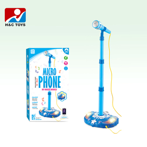 Kid's karaoke with light music MP3 kinds of function floor stand microphone toy HC386764