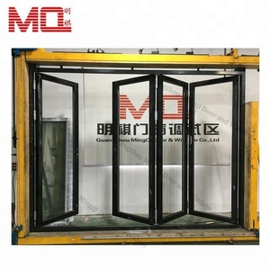 factory price aluminum soundproof exterior glass folding doors for villa/hotel/restaurant
