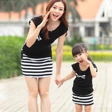 Oblečení pro maminku a dceru – pruhovaný set