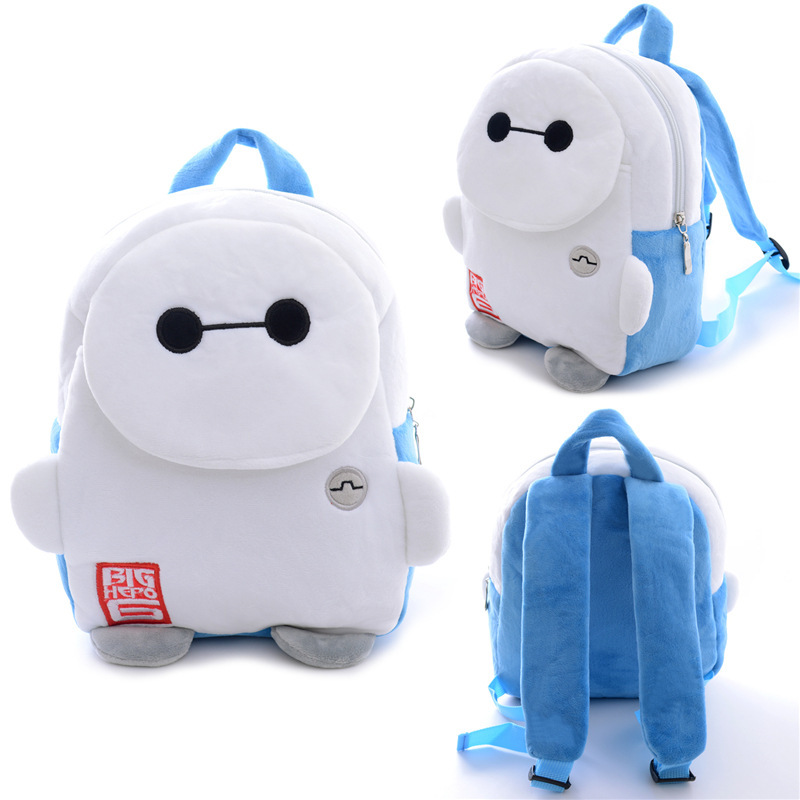 acfc9e7893ae Get Quotations · Children Baymax Big Hero 6 bags lovely small plush bags  cartoon brand kids backpack Children s school