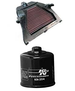 K&N Motorcycle Air Filter + Oil Filter Combo 2003-2006 Honda CBR600RR HA-6003 + KN-204