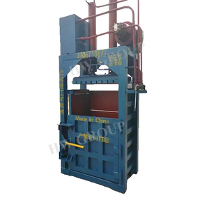baler machine for used clothing/used clothes and textile compress machine