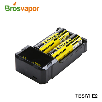 High quality tesiyi E2 charger suitable for rechargeable lithium battery 18350.18650.26650.21700