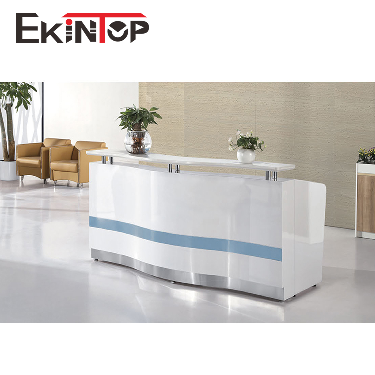 Spa used tufted hotel modern design white wooden beauty salon front office reception counter desk for office furniture