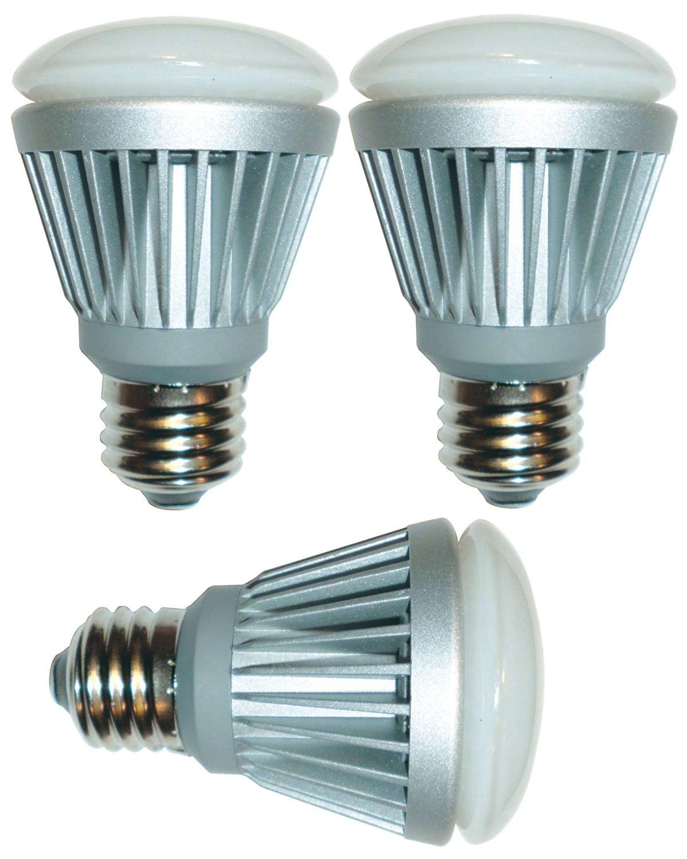 GE Lighting 66150 Energy Smart LED 9-Watt (40-Watt Replacement) R20 Indoor/Outdoor Floodlight Bulb with Medium Base (3 Pack)