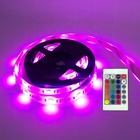 RGB LED Strip Lights Kit USB Powered Waterproof Flexible 100CM Mood Decor 5050 TV Backlight Led Tape Light 24 Key Remote