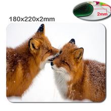 Fox Walking In Snow Anti – Slip a Rectangle custom mousepad printing size 220 * 180 * 2 mm soft rubber game mouse cool mouse pad