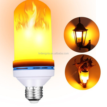 Flame Shaped Led Effect Lights Flickering Fire Lamp